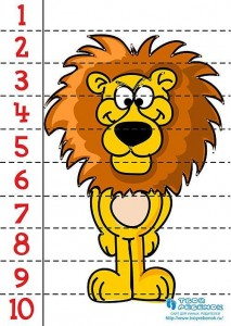 number puzzle lions