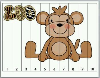 Number Puzzle Monkey Funnycrafts