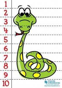 number puzzle snake