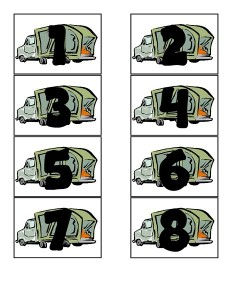 numbers garbage truck worksheets