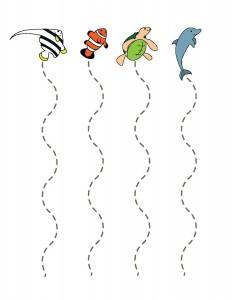 ocean animals cutting