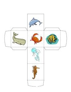 ocean animals dice
