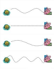 ocean animals line activity