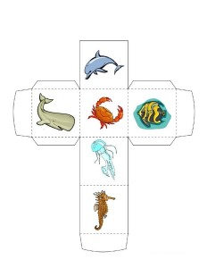 ocean animals make a dice