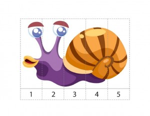 ocean animals math activities snail puzzle