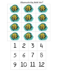 ocean animals number activities for kıds