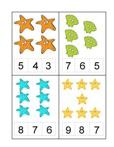 ocean animals number kıds