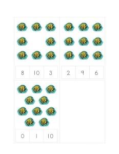 ocean animals number math activities