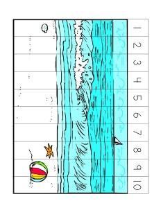 ocean animals number puzzles