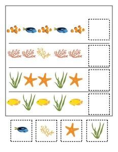 ocean animals pattern activities