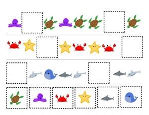 ocean animals pattern activity
