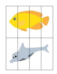 ocean animals puzzle forkıds
