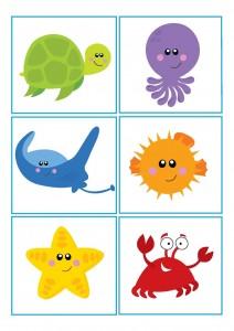 ocean animals shadow match