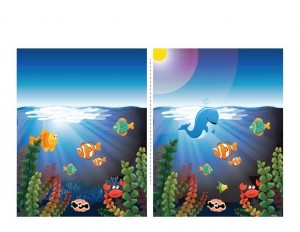 ocean animals worksheets fınd the different
