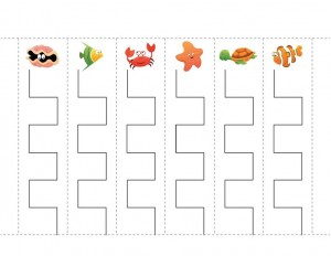 ocean animals worksheets fine motor skils
