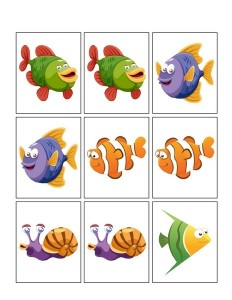 ocean animals worksheets match