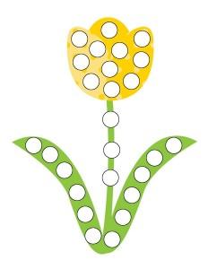 okul _öncesi_harika_bahar_noktacıklı_çiçek