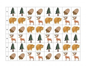 pattern template forest animals