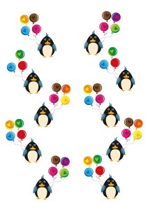 penguin printables color matching
