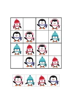 penguin sudoku printables