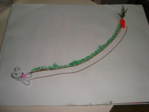 pipe cleaner with bunny