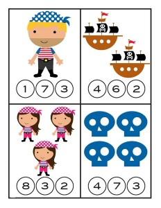 pirate worksheets counting