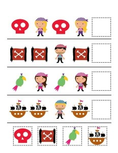 pirate worksheets pattern