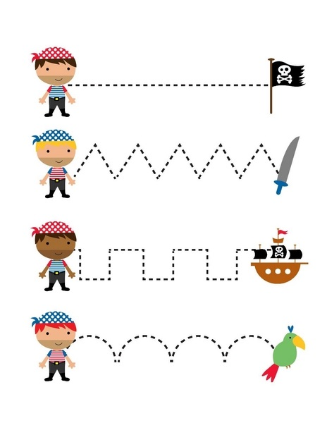Pirate Worksheets for Kindergarten » pirate worksheets trace the ...
