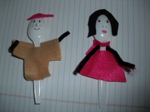 plastic spoon puppets craft
