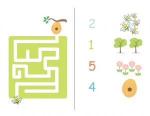 preschool bee labyrinth