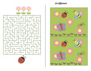 preschool bee ladybugs