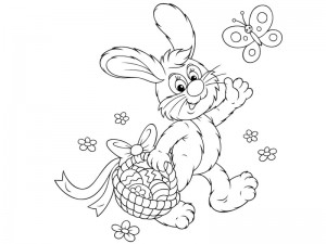 preschool bunny coloring cool pages (10)