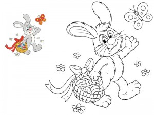 preschool bunny coloring cool pages (2)