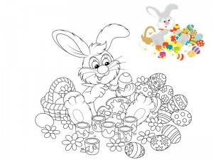 preschool bunny coloring cool pages (3)