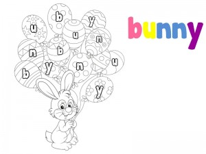preschool bunny coloring cool pages (5)