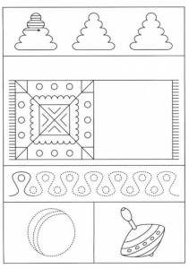 preschool tracing line and coloring toys