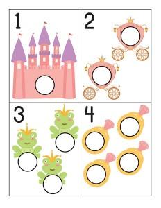princess number cards