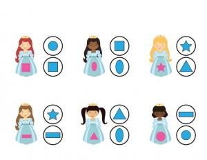 princess shapes activities