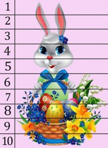 rabbit bunny number puzzle