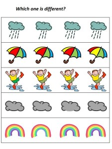 rain which one is differet (1)