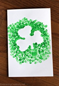 shamrock st.patricks day painting activity for kıds