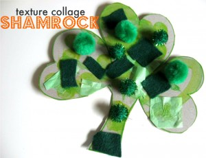 shamrocks texture collage craft