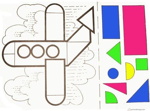 Аппликации на тему геометрических фигур