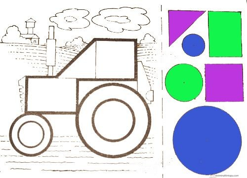 Cut and Paste Activities » shapes cut and paste for kıds