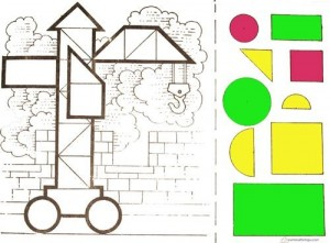 shapes cut and paste worksheets
