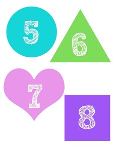 shapes numbers