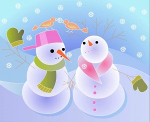 snowman color painting