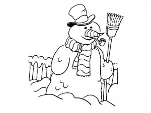 snowman coloring for preschool