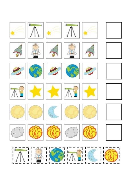 Space Worksheets   funnycrafts