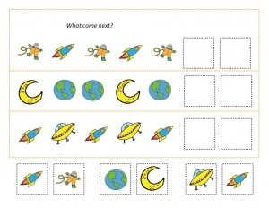 space theme math worksheets (6)